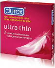 Durex  ultra thin  3 ks prezervatív